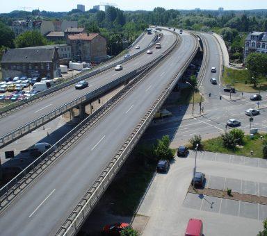 Hauptprüfung an der Hochstraßenbrücke im Zuge der L 40 in Potsdam