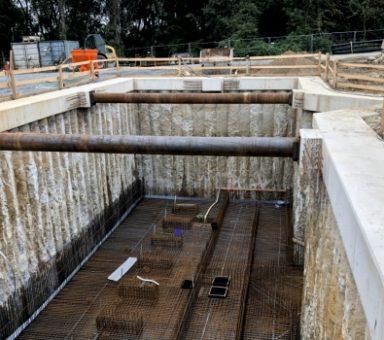 Rähnitz – Neubau Schmutzwasserpumpwerk – Kombination Auftriebssicherung und Baugrubenverbau